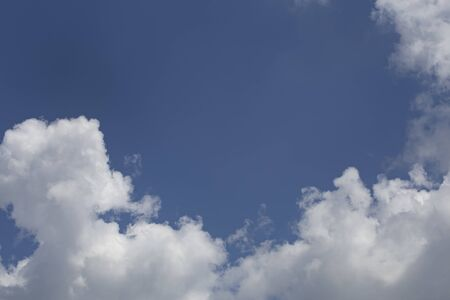 Beautiful blue sky and clouds . Relax concept. Фото со стока