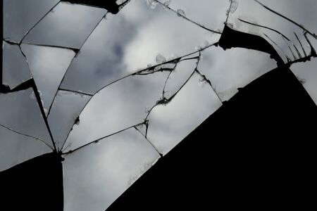 Cracked glass ,The mirror crack Texture Background.