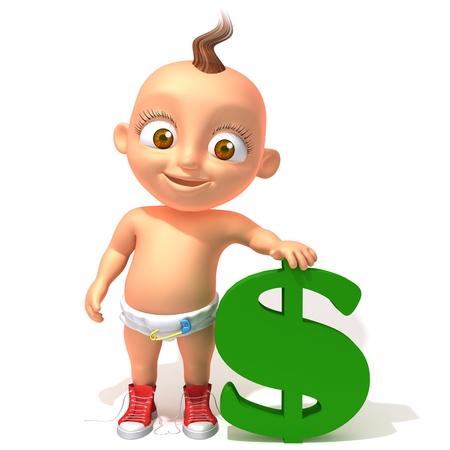 dolar: Baby Jake with dolar