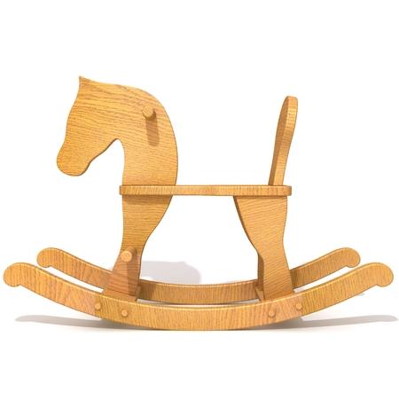 rocking: Rocking horse 3d illustration