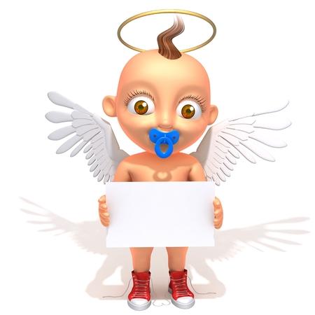 gloriole: �ngel del beb� Jake con el panel blanco
