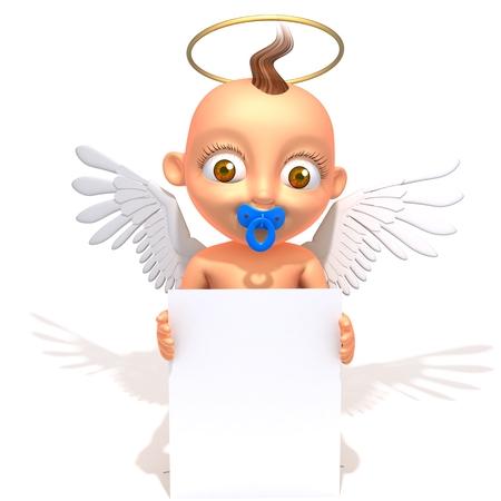 gloriole: Baby Jake angel with white panel