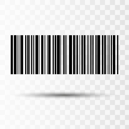 Barcode isoliert auf transparentem Hintergrund. Vektorsymbol