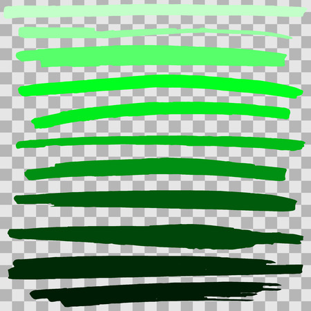 Vector green highlighter brush lines on isolated background. Hand drawing. Stok Fotoğraf - 108814597