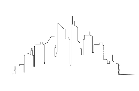 Modern city skyline ,silhouette of city skyline Vector illustration Ilustrace