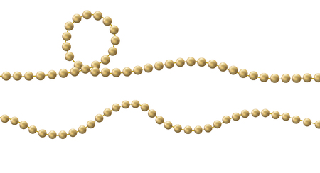 Bead decoration with beads isolated on a  background. Vector illustration Illustration