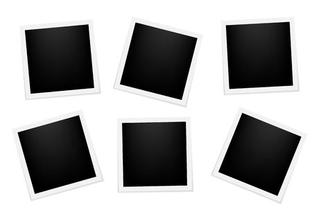 Vector frames photo collage Vector illustration