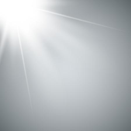Sunlight a translucent special design of the light effect. Isolated sunlight transparent background. Ilustração