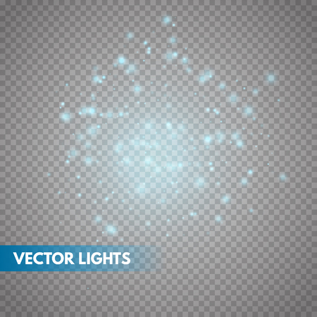 Glow light effect. Sparkle dust. Christmas flash. Vector illustration
