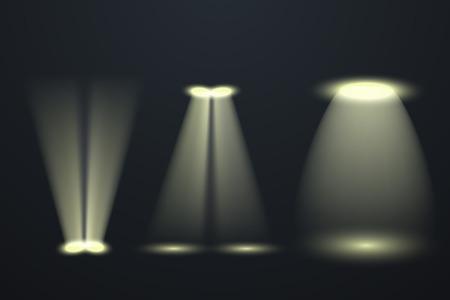 Vector spotlights. Scene. Light Effects. Vector illustration EPS10 Çizim