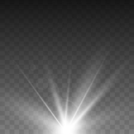 Glowing light effect on transparent background.Vector illustration EPS10