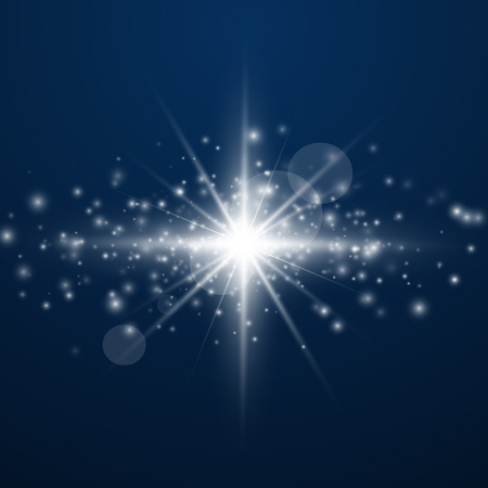 Glow light effect. Sparkle dust. Christmas flash. Vector illustration.EPS10