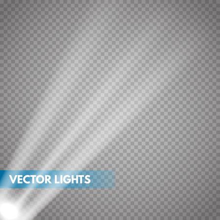 Bright lighting with spotlights. Vector Spotlights. Scene. Light Effects. Çizim
