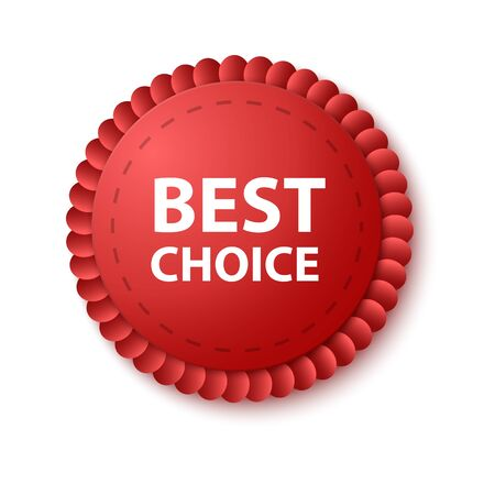 Best choice tags isolated, labels or badges on white background. Best choice vector ribbon banners Stock Illustratie