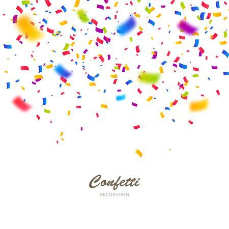 Fond de confettis de couleur. Célébrer l'illustration vectorielle de fête Vecteurs