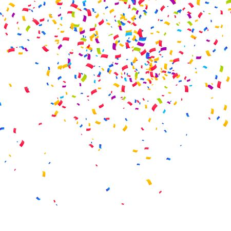 Farbkonfetti-Hintergrund. Feiern Sie Party-Vektor-Illustration Vektorgrafik