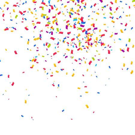 Sfondo di coriandoli di colore. Festeggia l'illustrazione vettoriale della festa Vettoriali