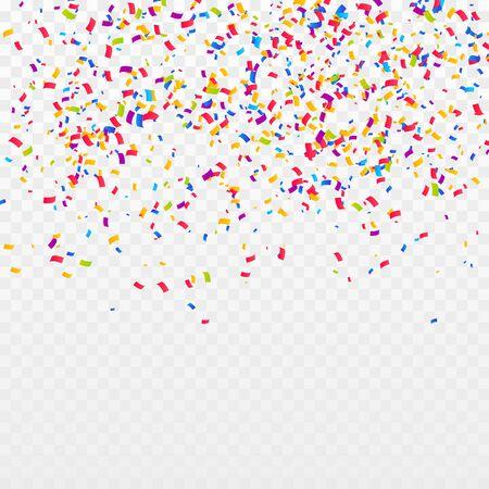 Color Confetti Background. Celebrate Party Vector Illustration Vektoros illusztráció