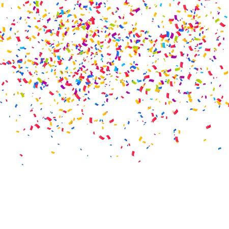 Sfondo di coriandoli di colore. Festeggia l'illustrazione vettoriale della festa