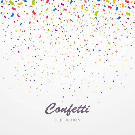 Farbkonfetti-Hintergrund. Feiern Sie Party-Vektor-Illustration