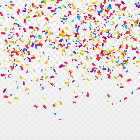 Fondo de confeti de color. Celebre la fiesta ilustración vectorial