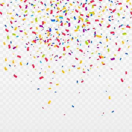 Color Confetti Background. Celebrate Party Vector Illustration Ilustrace