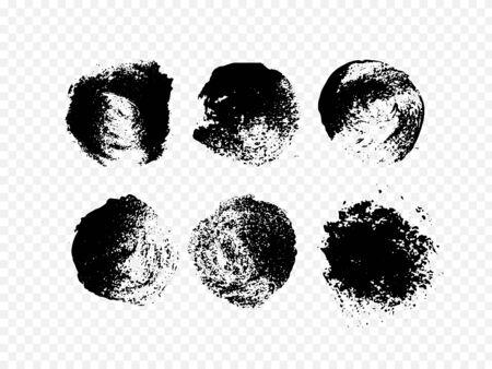 Black grunge paint. Circle stain texture. Decoration Elements Illusztráció
