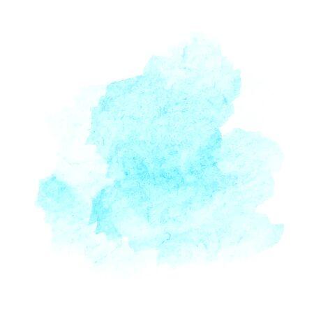 Blurry abstract soft blue spots. Vector watercolor background. Illusztráció