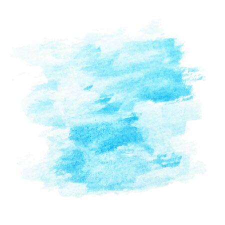 Blue sky background blurred texture. Watercolor effects. Illusztráció