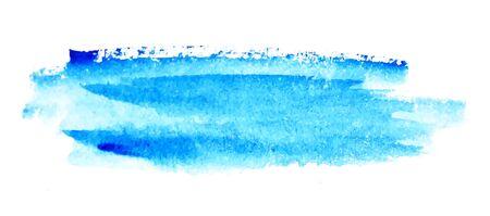 Turquoise abstract watercolor background texture. Vector stains set. Illusztráció