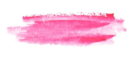 Gentle Pink Watercolor. Wet brush painted smudges abstract vector striped illustration.