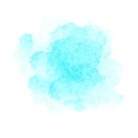 Light blue watercolor stains isolated on white background. Vector illustration Illusztráció