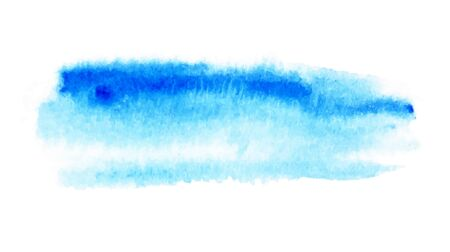 Blue watercolor backgrounds. Wet brush painted blue strokes vector illustration