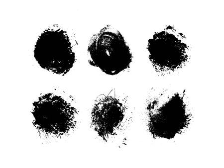 Grunge round shape. Artistic ink dirty design .Vector illustration eps 10