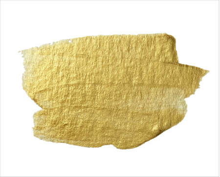 Gold pattern consists of shiny strokes. Brush design element. Illusztráció