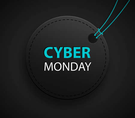 Cyber monday sale discount tag for commercial advertising. Sale bage
