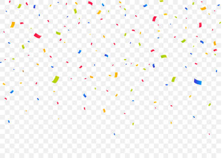 Falling golden confetti for the winner. Glitter, celebration, vector illustration. Illusztráció
