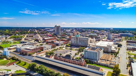 Downtown Montgomery Alabama AL Skyline Drone Aerial Editorial