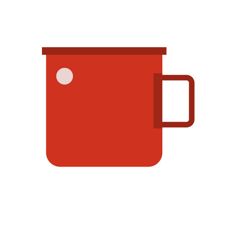 unbreakable: Camping cup vector icon. Tourist mug isolated on white background. Website and application pictogram. Illustration