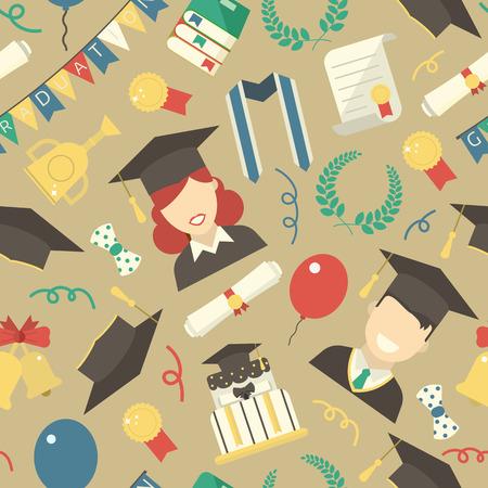 Graduation seamless pattern.