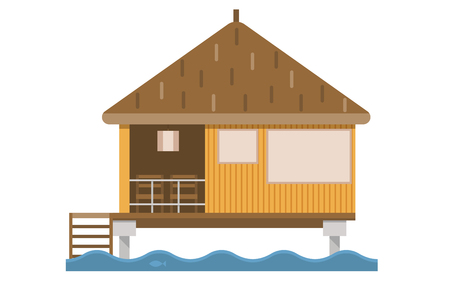 suite: Summer house. Wooden bungalow suite on sea.