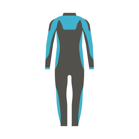 swim wear: Diving and surfing waterproof suit in flat design.
