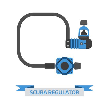 regulator: Scuba regulator vector icon. Diving equipment single element. Illustration