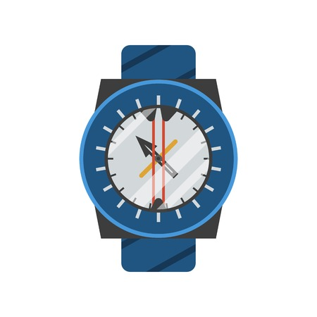 clockworks: Underwater diving watch. Scuba clockworks compass icon isolated on white background.