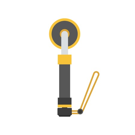 metal detector: Scuba diving portable metal detector vector illustration. Finding device icon isolated on white background.