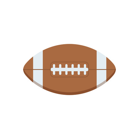 footbal: American football vector icon. Classic rugby ball flat design illustration.