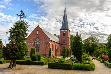 Old catholic church and cemetery in Dragor near Copenhagen, Denmark