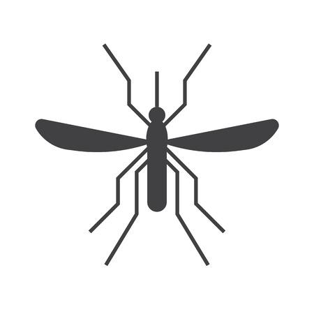 bloodsucking: Mosquito outline icon. Bloodsucking midge silhouette illustration. Illustration