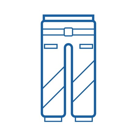 breeches: Sport pants outline vector icon. Protective work or active lifestyle trousers pictogram isolated on white. Snowboard suit pants thin line icon. Stock Photo