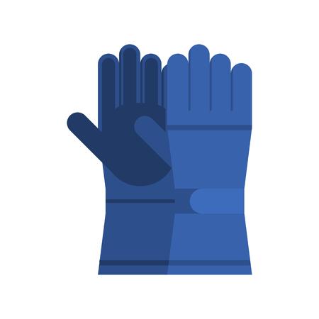 hand wear: Snowboarding glove pair. Winter sport gloves. Hand protection wear.